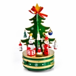 Green and Gold Musical Christmas Tree on Rotating base