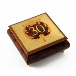 Handcrafted 30th Anniversary or Birthday with Ornament Frame Musical Jewelry Box