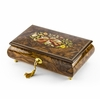 Handcrafted 36 Note Natural Wood Tone Music Theme Musical Jewelry Box