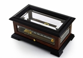 Handcrafted 50 Note Swiss Beveled Glass Music Box