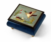 Handcrafted Birds theme Italian Music Box with Ducks and pond