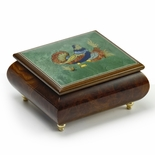 Handcrafted Birds theme Italian Music Box with Grouse Inlay