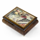 "Handcrafted Ercolano Music Box Featuring ""Harmonic Duet"" by Lena Liu"