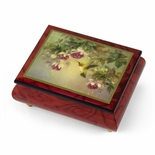 "Handcrafted Ercolano Music Box Featuring ""Hummingbird W. Fuchsia"" by Lena Liu"