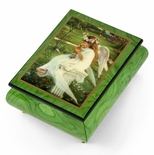 "Handcrafted Ercolano Music Box Featuring ""Kitten Kisses"" by Sandra Kuck"