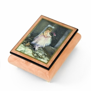 """Handcrafted Ercolano Music Box Featuring """"Little Darling"""" by Sandra Kuck"""