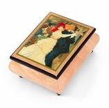 "Handcrafted Ercolano Music Box Featuring ""Dance of Bougival"" by Renoir, Pierre Auguste"
