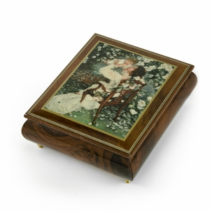 """Handcrafted Ercolano Music Box Featuring """"Mothers Love"""" by Sandra Kuck"""