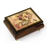 "Handcrafted Ercolano Music Box Featuring ""Nostalgia"" by Brenda Burke"