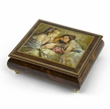 "Handcrafted Ercolano Music Box Featuring ""The Letter"" by Brenda Burke"