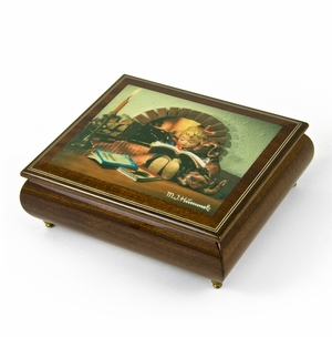 """Handcrafted Italian Ercolano Musical Jewelry Box -""""Proud Moments"""" by MI Hummel"""