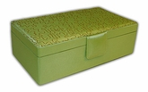 Hazel Rectangular  Peridot Jewelry Box  LMTD TIME AFTER CHRISTMAS SALE