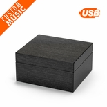 Hi-Gloss Charcoal Apricot Finish Custom USB Sound Module Any Song Music Box