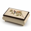 Incredible Handcrafted Ivory Music Box with Bird and Flower Inlay