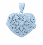 Incredible Heart Locket Pendent With Cubic Zerconia Stones