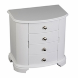 Kaitlyn Upright White Musical Jewelry Box by Mele & Co.