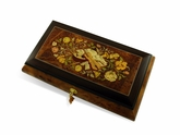 Luxurious 22 Note Grand Musical Instrument and Floral Music Jewelry  Box with Lift Up Tray