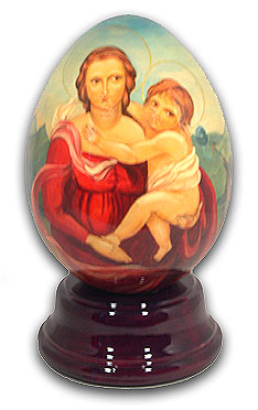 Madonna Hand Painted Reuge Musical Egg
