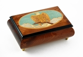 Majestic American Bald Eagle with Frame Inlay Music Box
