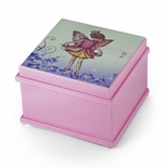 Matte Pink Enchanted Fairy 18 Note Ballerina Musical Jewelry Box - You Pick The Song