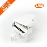 Matte White Miniature Custom USB Sound Module Piano Music Box