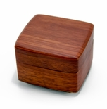 Beautiful Wood Tone Chic 18 Note Petite Music Jewelry Box