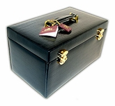 MBA Exclusive Crocodile Genuine Black Leather Fabulous Jewelry Box
