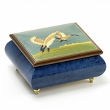 Handcrafted Birds Theme Italian Music Box with Wild Geese in Flight