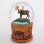 Mighty Moose by a Brook Water Globe with Detailed Base by Twinkle, Inc.