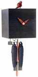 "Modern VDS Certified 1 Day Black Bamboo Romba Art Cuckoo Clock by Rombach and Haas (Extra 20% Off Sale Price - Code ""romba20"")"