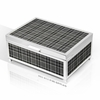 Modern 36 Note Designer Plaid Panels with Silver Finish Musical Jewelry Box