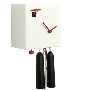 "Modern VDS Certified 8 Day White Romba Art Cuckoo Clock by Rombach and Haas (Extra 20% Off Sale Price - Code ""romba20"")"