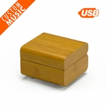Modern Designed Bamboo USB Sound Module Music Jewelry Box