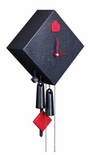 """Modern VDS Certified Dotted Black Top Dressed Romba Art Cuckoo Clock by Rombach and Haas (Extra 20% Off Sale Price - Code """"romba20"""")"""