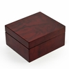 Modern Hi Gloss 36 Note Burl Wood Jewelry Box