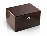 Modern Hi Gloss Coffee Tone 18 Note Music Jewelry Box