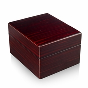 Modern Hi Gloss Macassar Finish 18 Note Music Jewelry Box