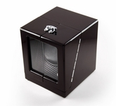 Modern Hi Gloss Rosewood Single Rotor Watch Winder (1) with Carbon Fiber Interior