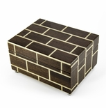 Modern Masonry Design Hand Made Sorrento Italian 18 Note Music Jewelry Box
