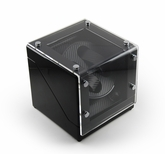 Modern Midnight Black Two Watch Winder w. Carbon Fiber Interior