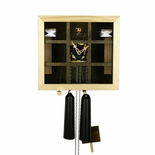 "Modern VDS Certified Olive and Wood Tone Glass Panel 8 Day Romba Art Cuckoo Clock by Rombach and Haas (Extra 20% Off Sale Price - Code ""romba20"")"
