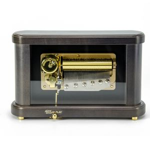 Modern Rounded Glass Display 50 Note Sankyo Musical Keepsake