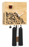 "Modern VDS Certified Solid Cherry 8 Day Carved Black Romba Art Cuckoo Clock by Rombach and Haas (Extra 20% Off Sale Price - Code ""romba20"")"