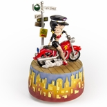 Motorcycle Bad Girl Betty Boop On Her Chopper Musical
