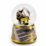 Music Theme Grand Piano with Painted Base Musical Water / Snow Globe