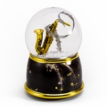 Music Theme Saxophone with Painted Base Musical Water / Snow Globe