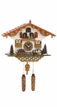 Musical Black Forest Quartz Chalet Cuckoo Clock with Beer Drinker by Trenkle Uhren