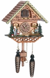 Musical Black Forest Quartz Chalet Style Cuckoo Clock