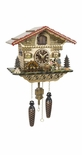 Musical Black Forest Quartz Chalet Style Cuckoo Clock with Animated Beer Drinker