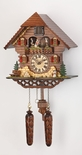 Musical Black Forest Quartz Chalet Style Cuckoo Clock with Spinning Dancers